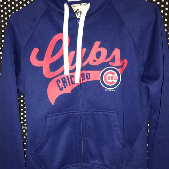 4 her Sweaters - Chicago Cubs zip-up hoodie